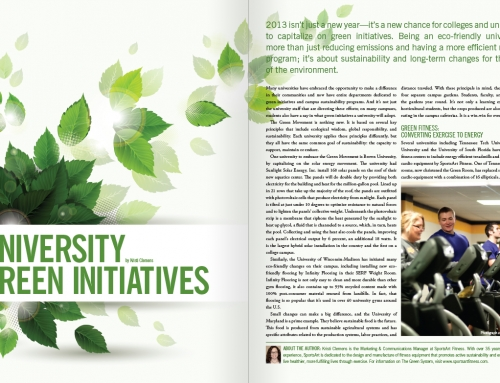 University Green Initiatives Article