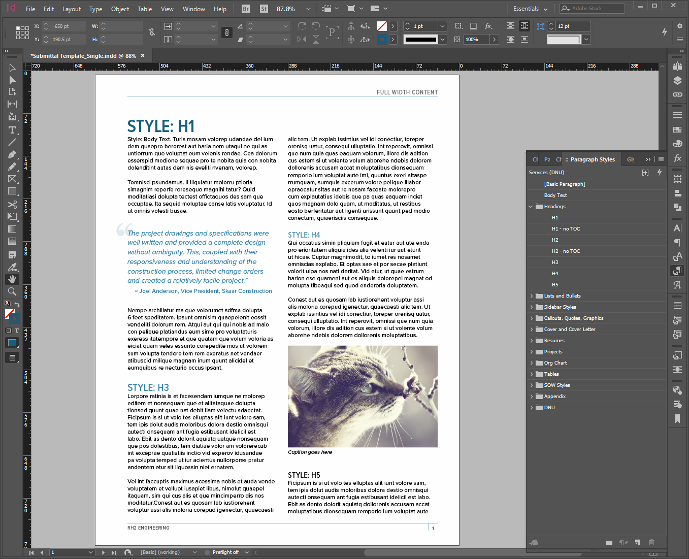 InDesign Proposal Template – Kristi Clemens